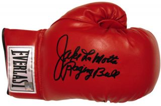 Jake LaMotta Boxing Glove Hand Signed with Exact Proof