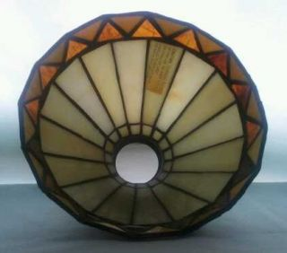 Tiffany Style Stained Leaded Slag Glass Lamp Shade