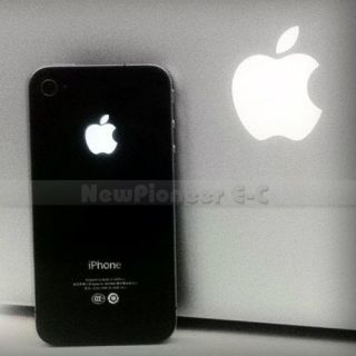 White Black Luminescent LED Light Mod Kit Glowing Logo Case for iPhone