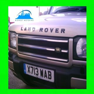 1999 2002 LAND ROVER DISCOVERY 2 II CHROME TRIM FOR GRILL GRILLE W 5YR