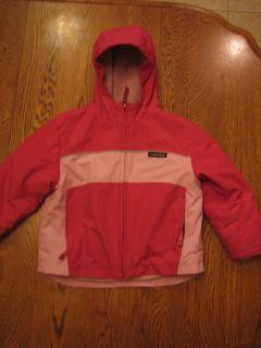 Lands End Girls Pink Winter Coat Size M 6 8