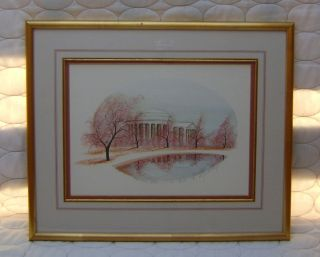 Buckley Moss Framed Signed Print Jefferson Memorial Washington DC 39