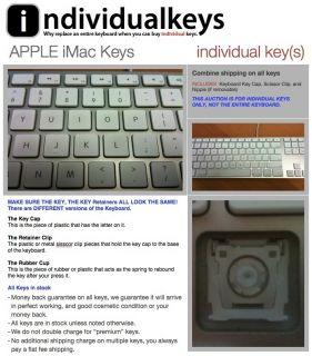 Apple iMac White Replacement Laptop Keyboard Keys