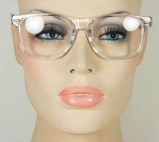 Large Mens or Womens Clear Square Rectangular Frame Glasses Eyeglasses
