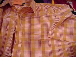 Ted Lapidus Casual Short Sleeve Shirt Mens XL