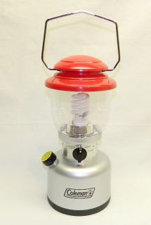 COLEMAN #5312 BATTERY POWERED LANTERN LAMP uses Fluorescent Bulb & D