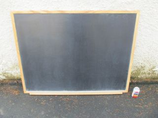 Large Vintage Antique Chalkboard Blackboard Wood Frame Chalk Ledge