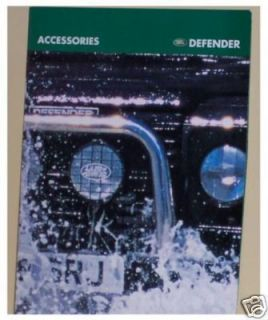 Land Rover Defender Accessories Brochure New Mint
