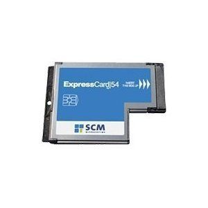 Laptop ExpressCard54 Common Access CAC Military ID Smart Card Reader