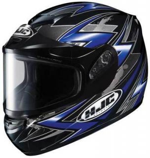 HJC CS R2 CSR2 Thunder Snow Helmet Blue Black Large LG