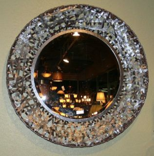 Woven Metal Wall Mirror Modern Art Extra Large Round Luxury