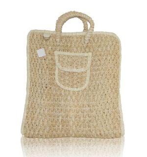 New Add A Charm Cute Tan Big Straw Market Extra Large Tote Bag Beach