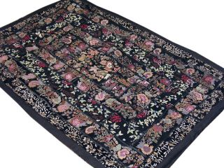 Fine Kashmir Embroidery Tapestry Handmade Patchwork Indian Wall Art