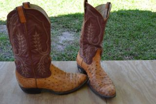 Larry Mahan Men Boots Shoes Western Cowboy Size 9 D