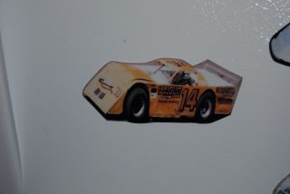 Larry Moore #14 Malcuit Racing Engines Refrigerator/Tool Box Magnet