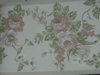 Laura Ashley Sommerset Wallpaper Border Flowers Floral Roses