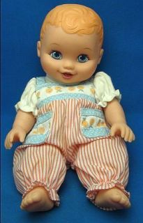 1999 Lauer Water Babies Baby Doll 10 Orangish Hair Wearing Smiling