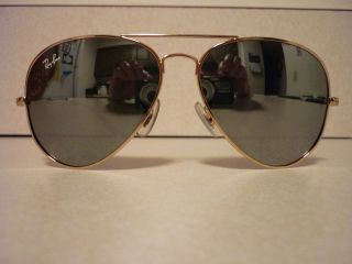 Ray Ban RB3025 Large Metal Aviator Sunglasses