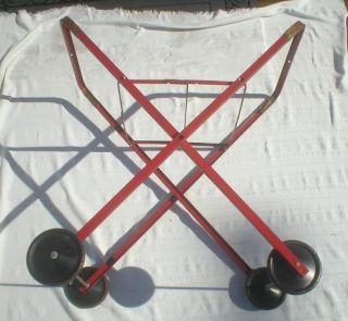 vintage meyer bilt laundry cart industrial machine age metal on wheels