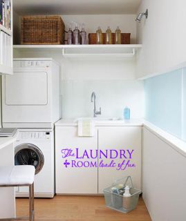 The Laundry Room Loads Fun Wall Art Decal Vinyl Decor