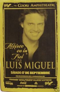 Luis Miguel 2007 San Diego Concert Tour Poster Sexy Latin Music