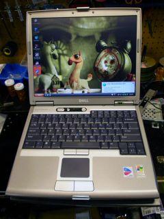 Dell Latitude D610 14 1 Notebook 1 86GHz Centrino DVD VG Battery XP