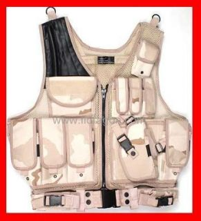 Law Enforcement DESERT TAN CAMO SWAT Police Tactical Military VEST