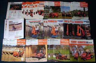 69 Kubota Lawn Garden Tractor Small Construction Equipment Brochures