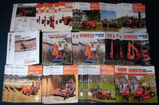 69 Kubota Lawn Garden Tractor Small Construction Equipment Brochures