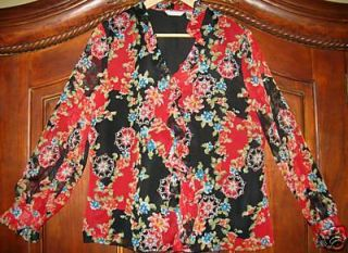 Laura Ashley Blouse Top Shirt Womens Ladies Size 12