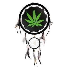 Large 13 Marijuana Pot Leaf Dream Catcher Wall Decor