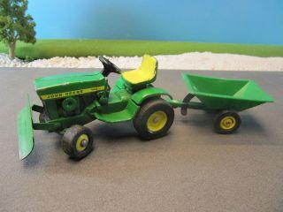 Vintage John Deere 140 Riding Lawn Mower Tractor w Plow 1 16