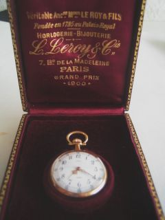 Le Roy Antique French 18K Gold Pocket Watch Box