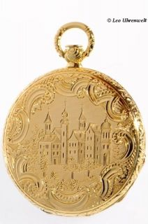 Le Roy Horologers Du Roy Palais Royal 18K Gold Pocket Watch 1840