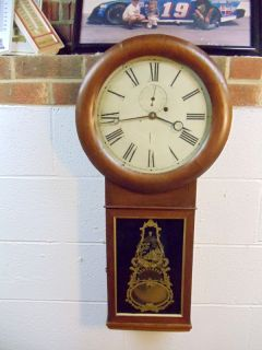 ANTIQUE SETH THOMAS WEIGHT DRIVEN #1 REGULATOR, WALL CLOCK (CIR APROX