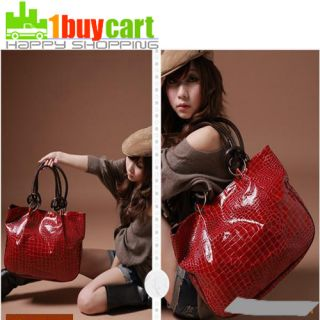 Fashion Red Women Ladys PU Leather purses handbags Totes HOBO Shoulder