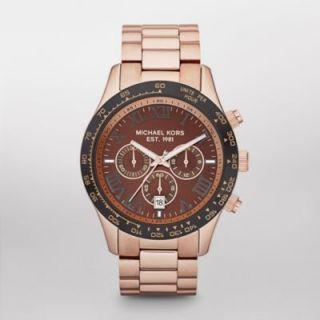New Michael Kors MK8247 Layton Rose Gold Tone Chronograph Watch