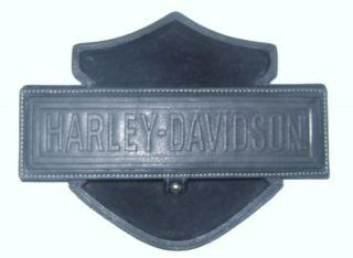 Harley Bar Shield Shaped Leather Desk Caddy