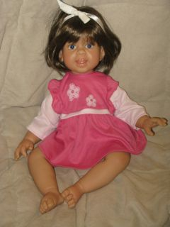Blue Eye Brown Hair Lee Middleton Toddler Doll re Wigged OOAK