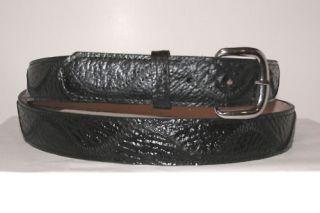 Genuine Exotic Black Shark Skin Leather 1 1 2 Belt