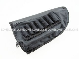 Airsoft Nylon Leather Ammo Shell Holder Pouch For Shotgun Stock