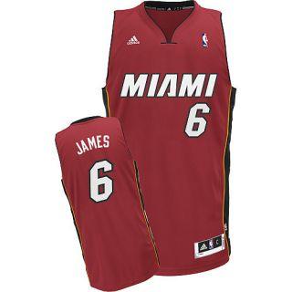 LEBRON JAMES 2012 NBA ADIDAS MIAMI HEAT REVOLUTION 30 SWINGMAN JERSEY