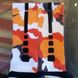 Nike Elite Socks Camo Miami Heat Lebron James Galaxy