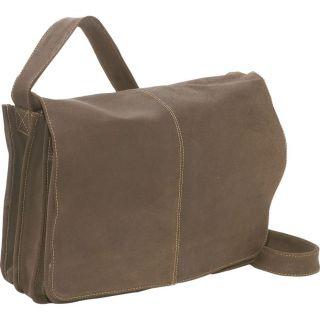 Ledonne Distressed Leather Quick Access Messenger Bag