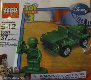 LEGO TOY STORY 3 DISNEY MOVIE GREEN ARMY MEN JEEP MINIFIGURE LOT SET