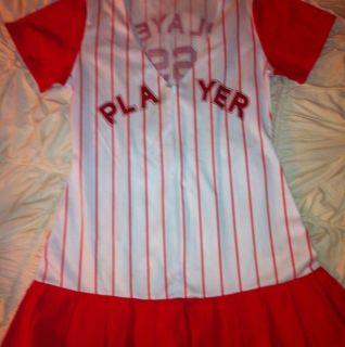 Leg Avenue Baseball Player Halloween Costume Dress Size M L