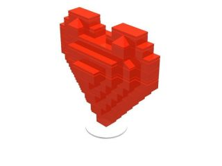 Lego Valentines Day 3D Heart Gift Box