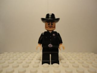 Lego Walker Texas Ranger Custom Minifig Chuck Norris Cowboy Two Faces