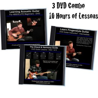 Learn How To Play Guitar 3 DVD Set BEST EASY LESSONS Teach Yourself To