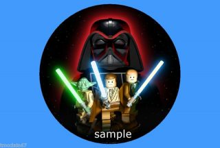 Star Wars Lego Edible Cake Image Round